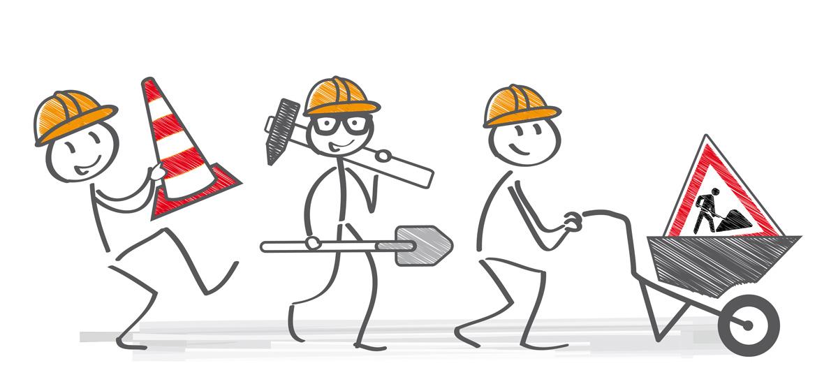 dieses Bild zeigt Bauarbeiter